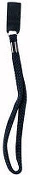 Zápěstní textilní poutko na hůl černé