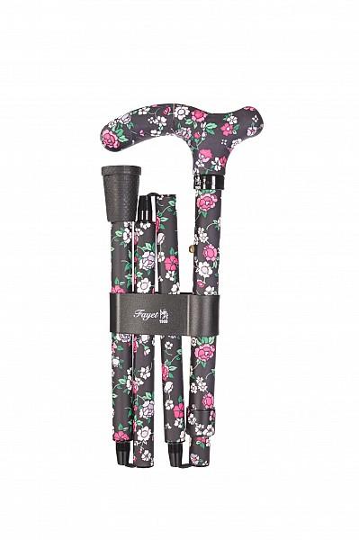 Vycházková hůl skládací Fayet flowers