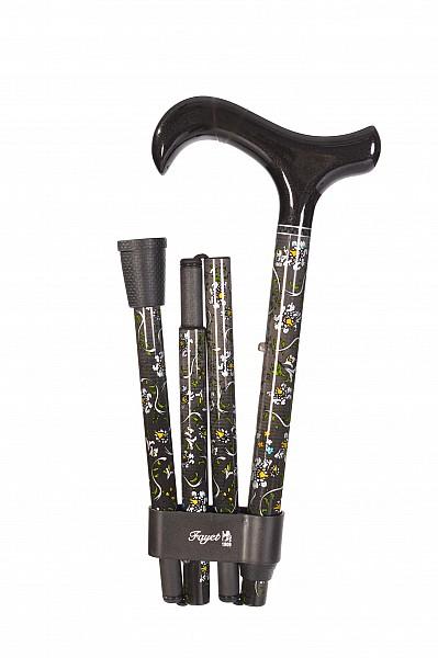 Vycházková hůl Fayet flowers 3