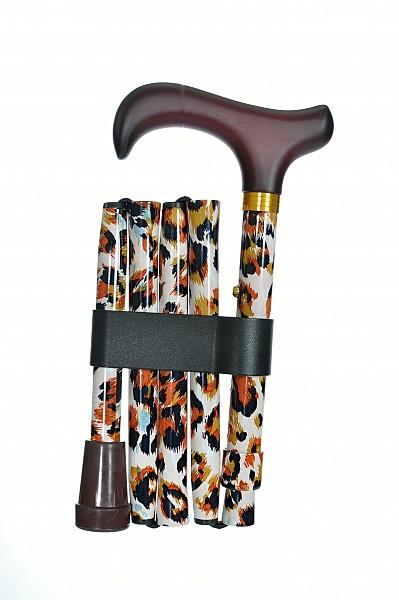 Vycházková hůl skládací Leopard
