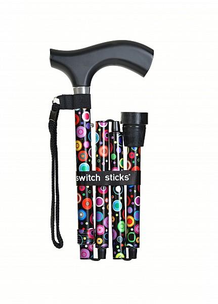 Vycházková hůl skladací Switch Stick Bubbles