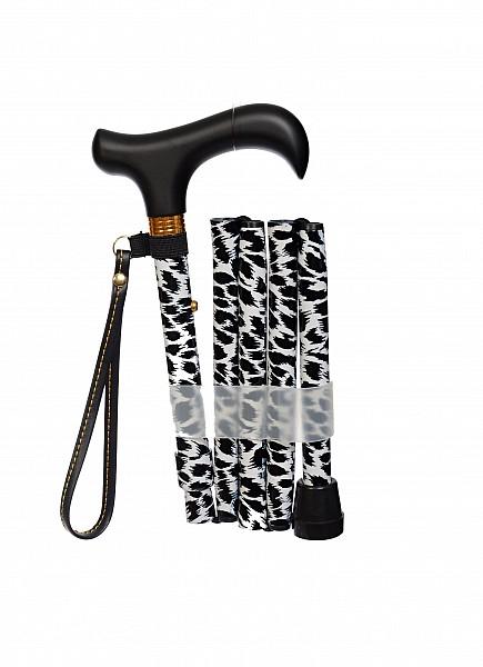 Vycházková hůl skládací Zebra