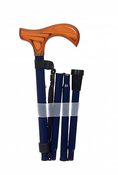 Vycházková hůl skládací Dark blue