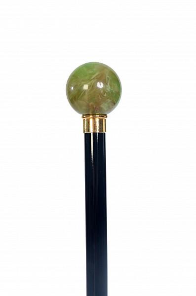 Vycházková hůl sběratelská Green Ball