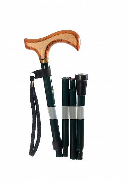 Vycházková hůl skládací Green