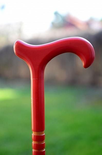 Vycházková hůl Sauer Trio red (sleva-vada)