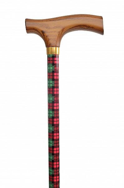 Vycházková hůl s nastavitelnou délkou Tartan