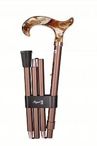 Vycházková hůl skládací Fayet marron