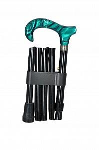 Vycházková hůl skládací luxusní Green