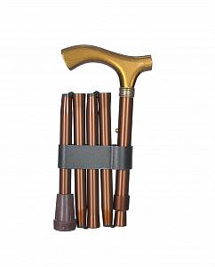 Vycházková hůl skládací luxusní bronze 3