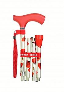 Vycházková hůl skládací Switch Stick Poppies