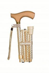 Vycházková hůl skládací Switch Stick Pearl Gold