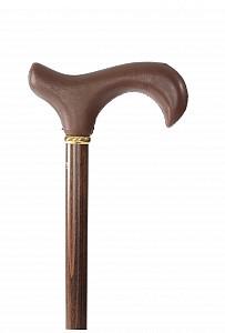 Vycházková hůl Fayet kožená rukojeť