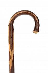 Vycházková hůl dřevěná dámská kaštan