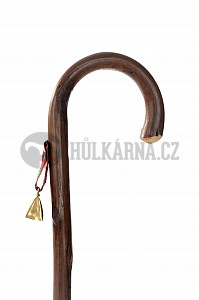 Vycházková hůl dřevěná dětská se zvonkem