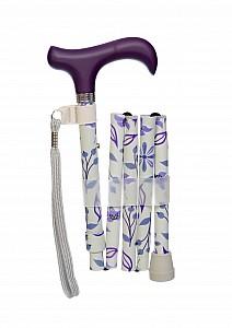 Vycházková hůl skládací Violett