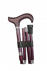 Vycházková hůl skládací Gastrock Deluxe violett