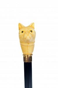 Vycházková hůl sběratelská Cat Ivory