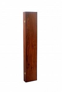 Dřevěné pouzdro na vycházkovou hůl hnědý ořech