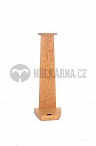 Dřevěný rohový stojan na vycházkovou hůl dub