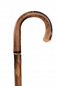 Vycházková hůl dřevěná pánská Bambus s gumovou koncovkou