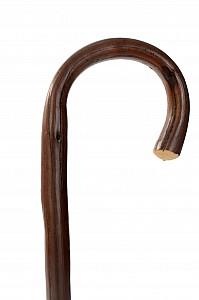 Vycházková hůl dřevěná imitace dubu s gumovou koncovkou