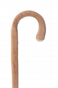 Vycházková hůl dřevěná pánská přírodní s gumovou koncovkou