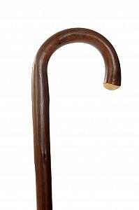 Vycházková hůl dřevěná Braun XXL s gumovou koncovkou