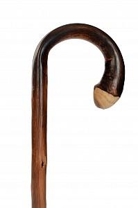Vycházková hůl dřevěná Wurzel s gumovou koncovkou