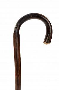 Vycházková hůl dřevěná dámská klasik flame s gumovou koncovkou