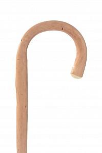 Vycházková hůl dřevěná dámská přírodní s gumovou koncovkou