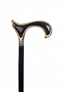 Vycházková hůl s intarzí broušeného rohu (sleva-vada)