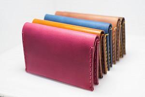 Kožená peněženka Slim červená