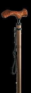 Vycházková hůl ergonomická na levou ruku Holz