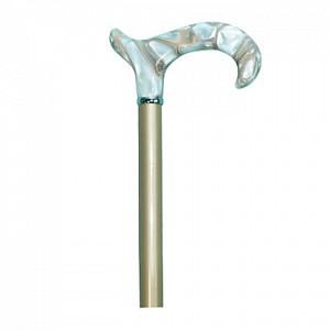 Vycházková hůl dřevěná s perleťovou rukojetí